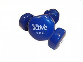 Jednoruční činka High Active 1 kg modrá 1 kus