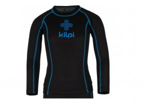 Juniorské funkční triko s dlouhým rukávem Kilpi Takas jr černo modré