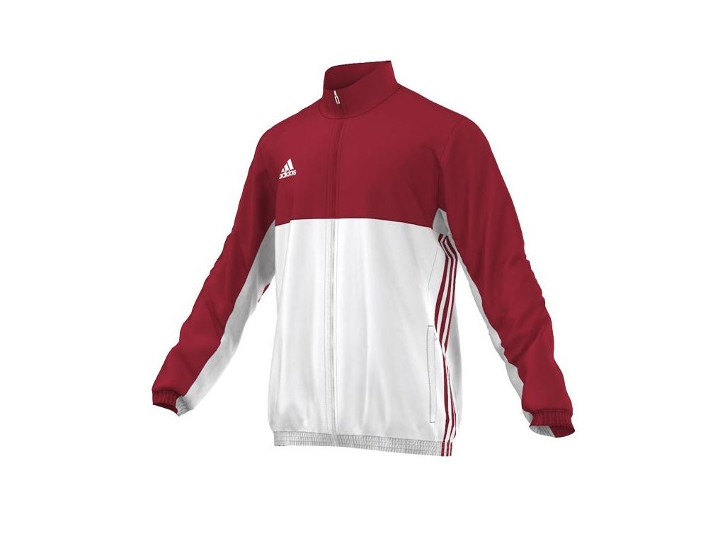 Adidas T16 červená mikina pánská s límečkem - L
