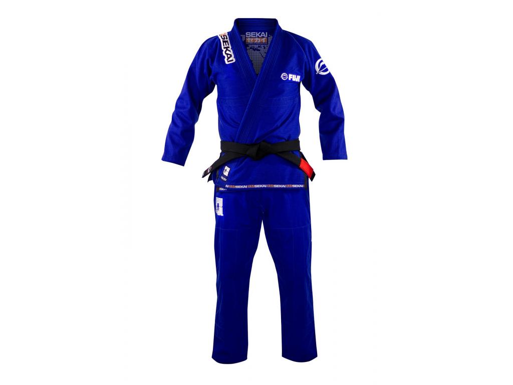 kimono na bjj modre fuji sekai