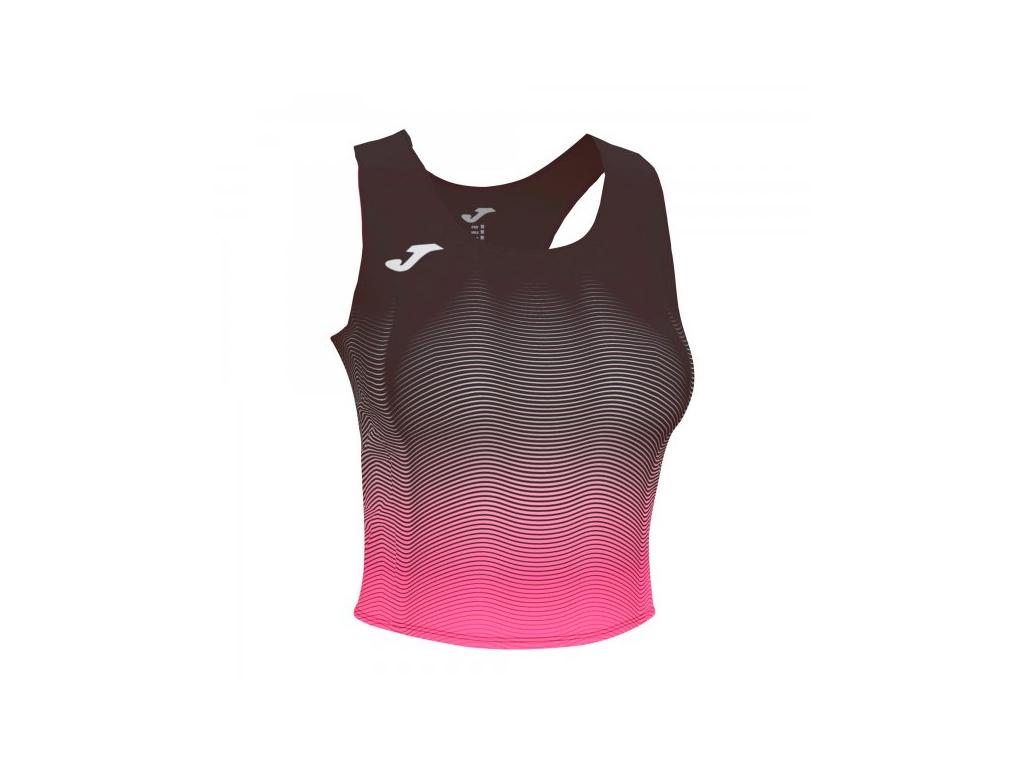 Dámský atletický top černo-růžový JOMA Elite VII