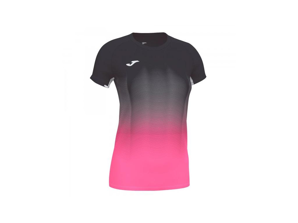 Dámské tričko černo-růžové JOMA Elite VII