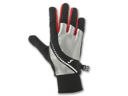 reflexni bezecke rukavice cerveno cerne joma