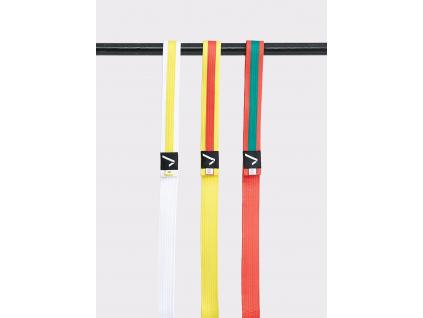 Ippon Gear Club oranžovo-zelený pásek ke kimonu