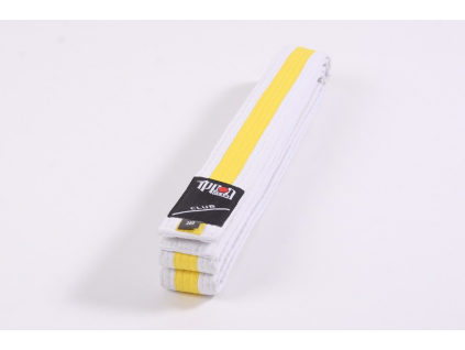 Ippon Gear Club bílo-žlutý pásek ke kimonu