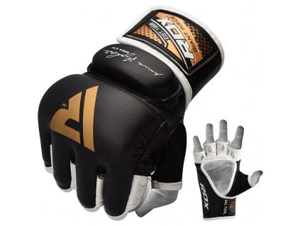 RDX T2 MMA rukavice černo-zlaté