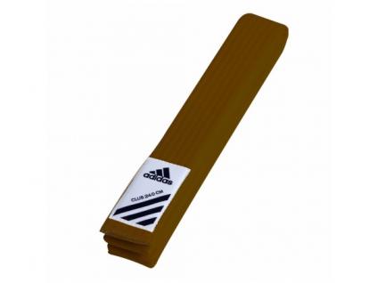 Adidas Club hnědý pásek ke kimonu