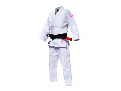 Kimono na BJJ bílé Fuji Pink Blossom