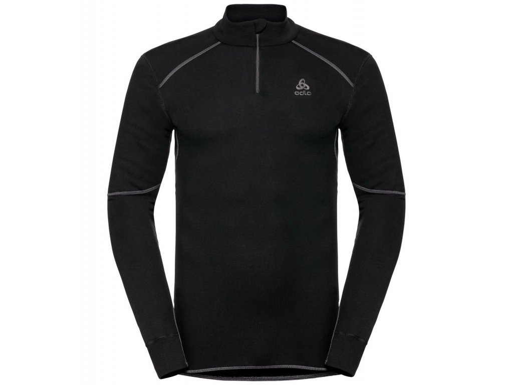 BL TOP Turtle neck l/s half zip ACTIVE X-WARM ECO  black
