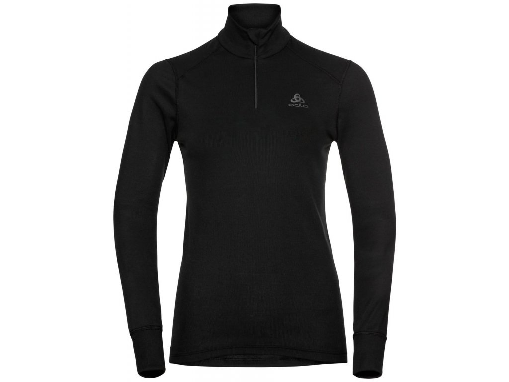 BL TOP Turtle neck l/s half zip ACTIVE WARM ECO  black