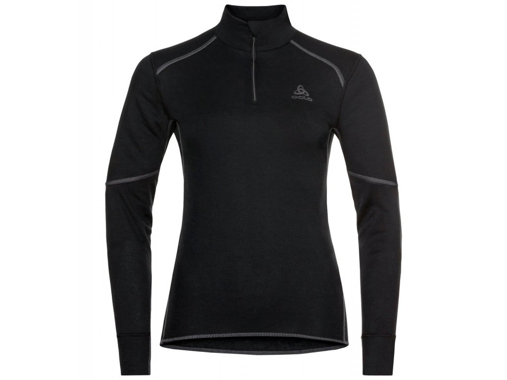 BL TOP Turtle neck l/s half zip ACTIVE X-Warm  black