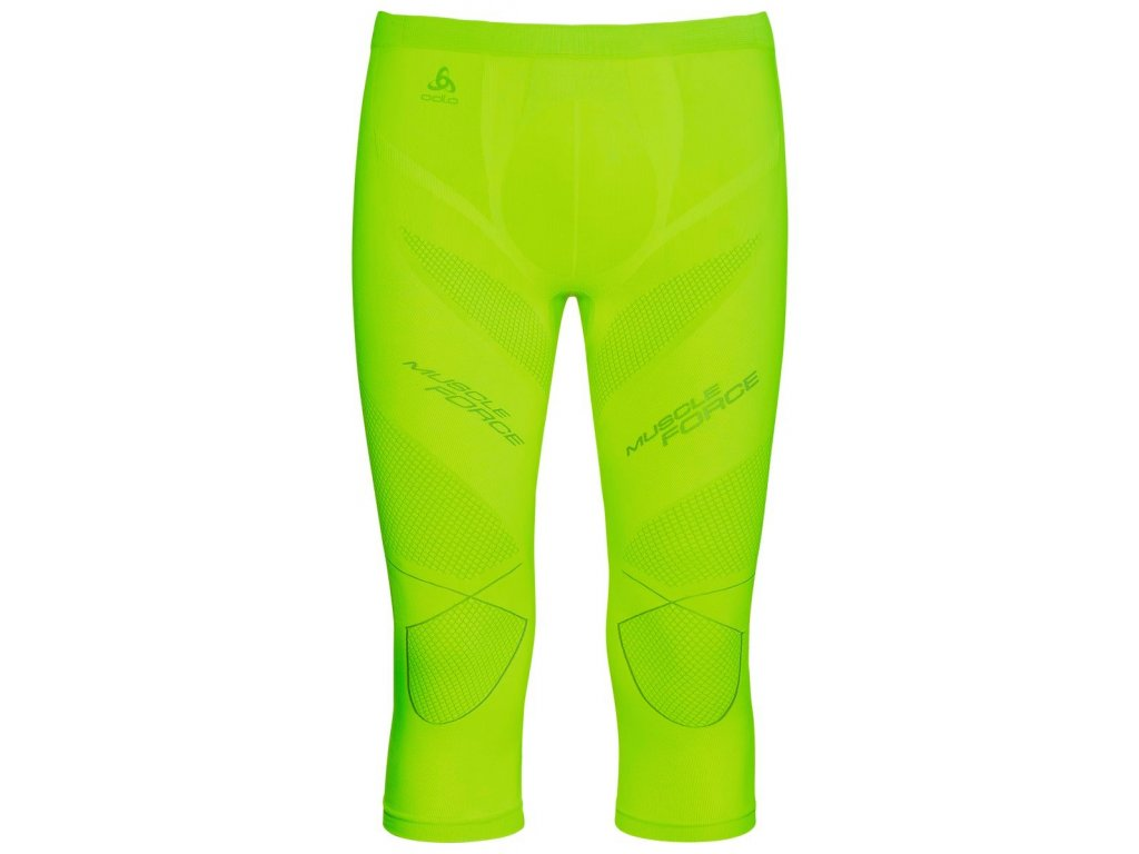 Pants 3/4 EVOLUTION WARM Muscle Force  safety yellow - platinum grey