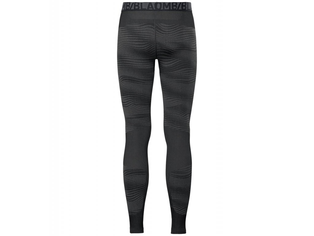 SUW Bottom Pant PERFORMANCE Blackcomb  black - odlo concrete grey - silver