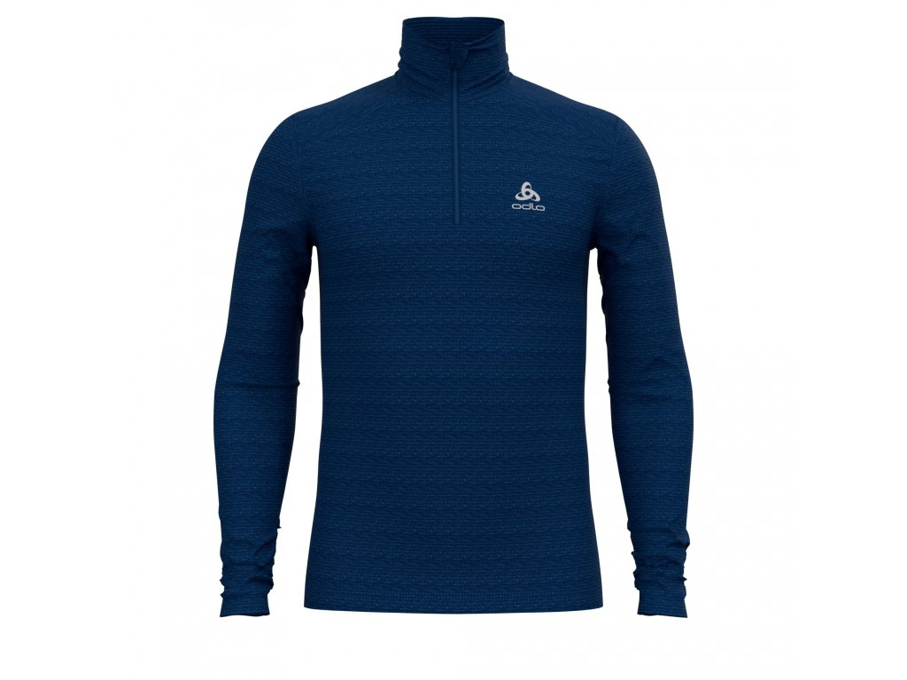 BL TOP Turtle neck l/s half zip ACTIVE THERMIC  estate blue melange