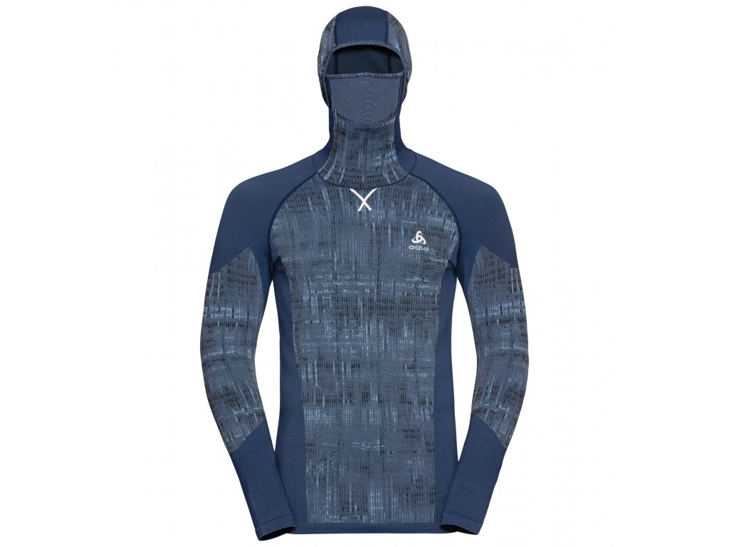 BL TOP with Facemask l/s BLACKCOMB  estate blue