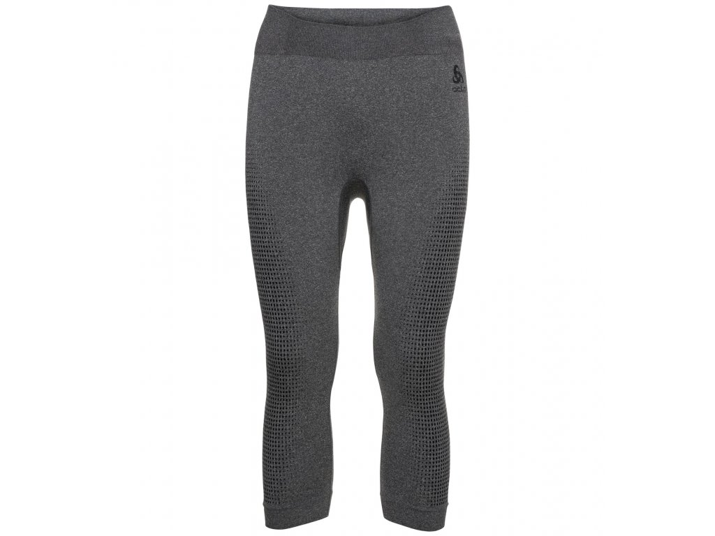 BL Bottom 3/4 PERFORMANCE WARM ECO  grey melange - black