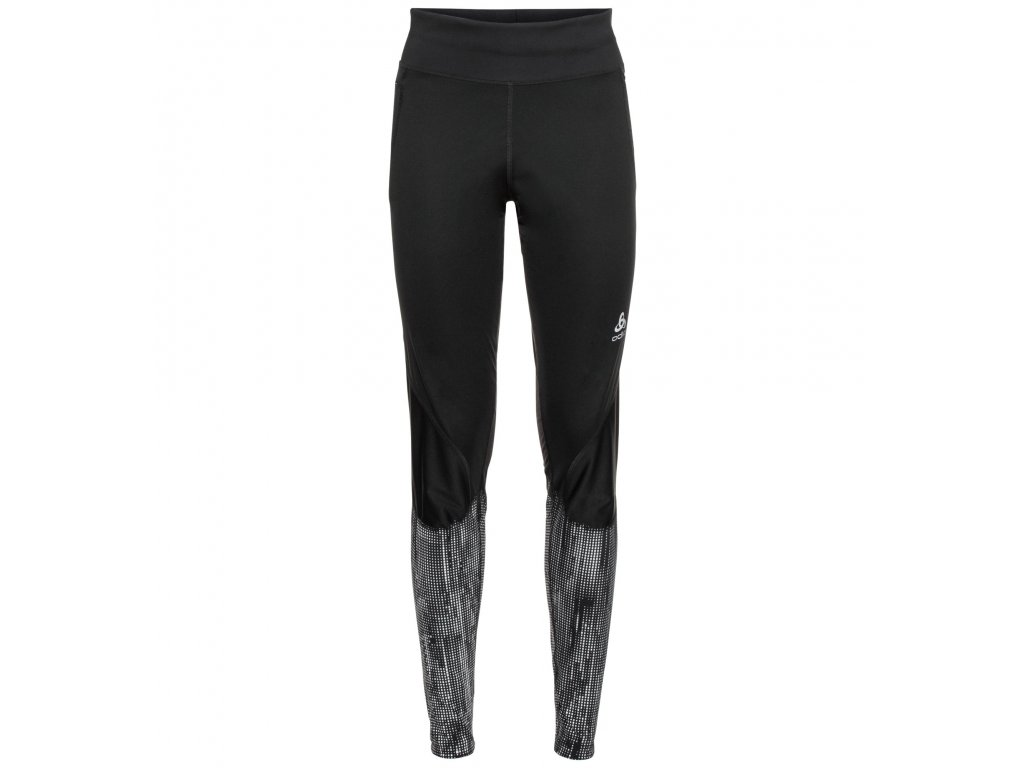Tights ZEROWEIGHT WARM REFLECTIVE  black - reflective graphic FW20