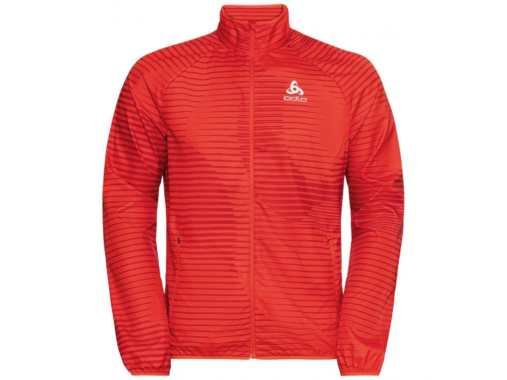 Jacket ELEMENT LIGHT AOP  mandarin red - aura orange