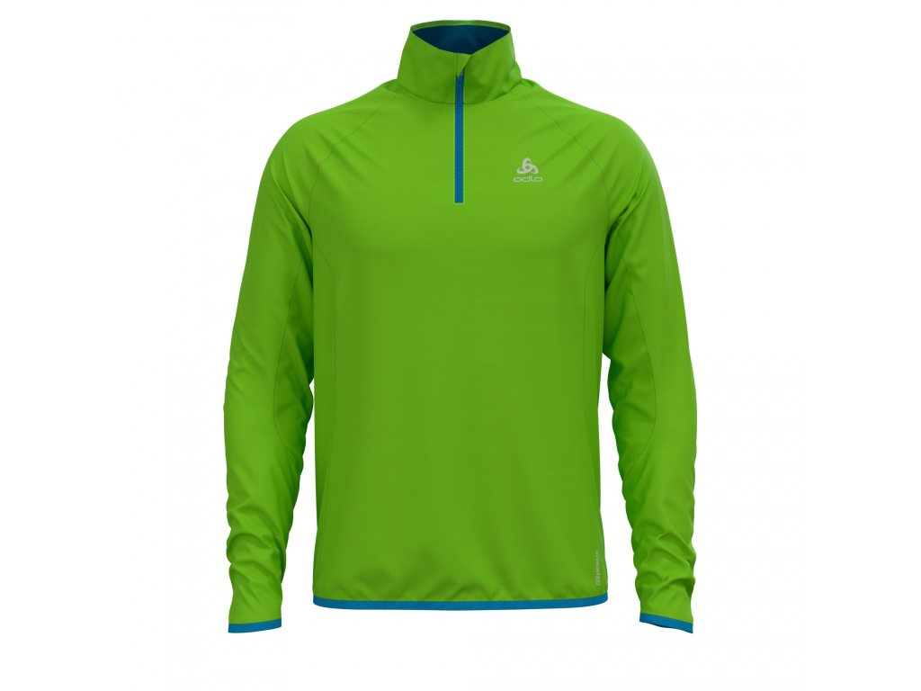 Midlayer 1/2 zip CARVE CERAMIWARM  acid lime - blue jewel