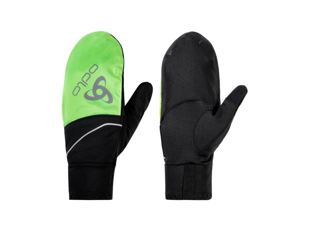 Gloves INTENSITY COVER SAFETY LIGHT  black - safety yellow