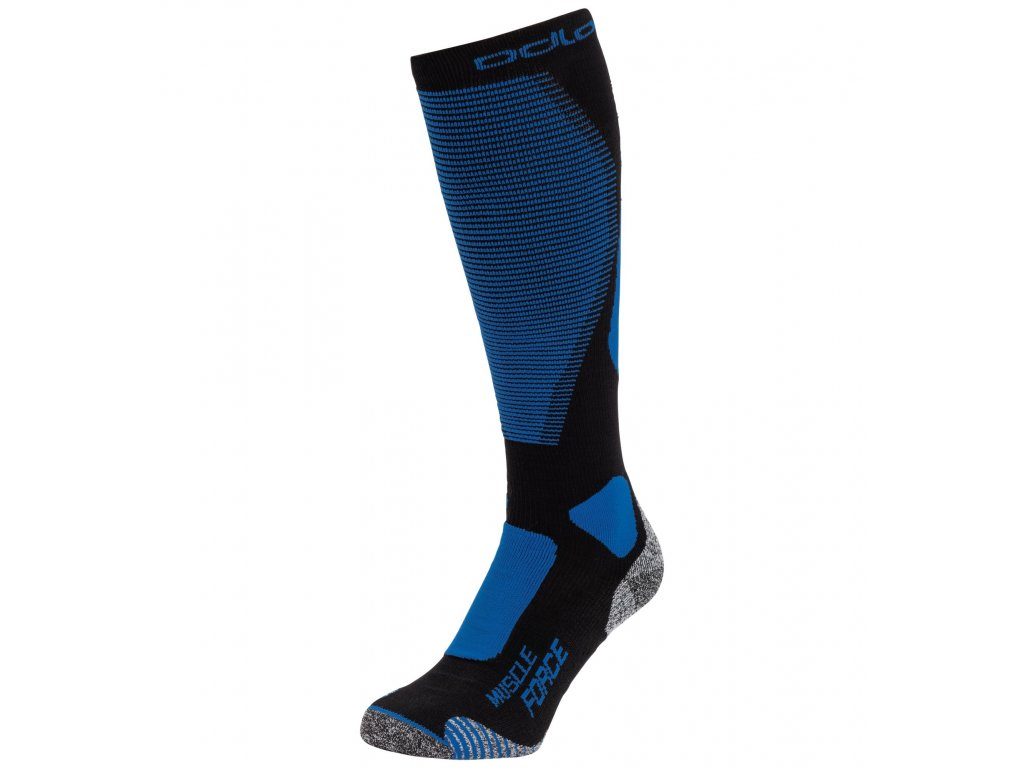 Socks over the calf MUSCLE FORCE ACTIVE WARM  black - directoire blue