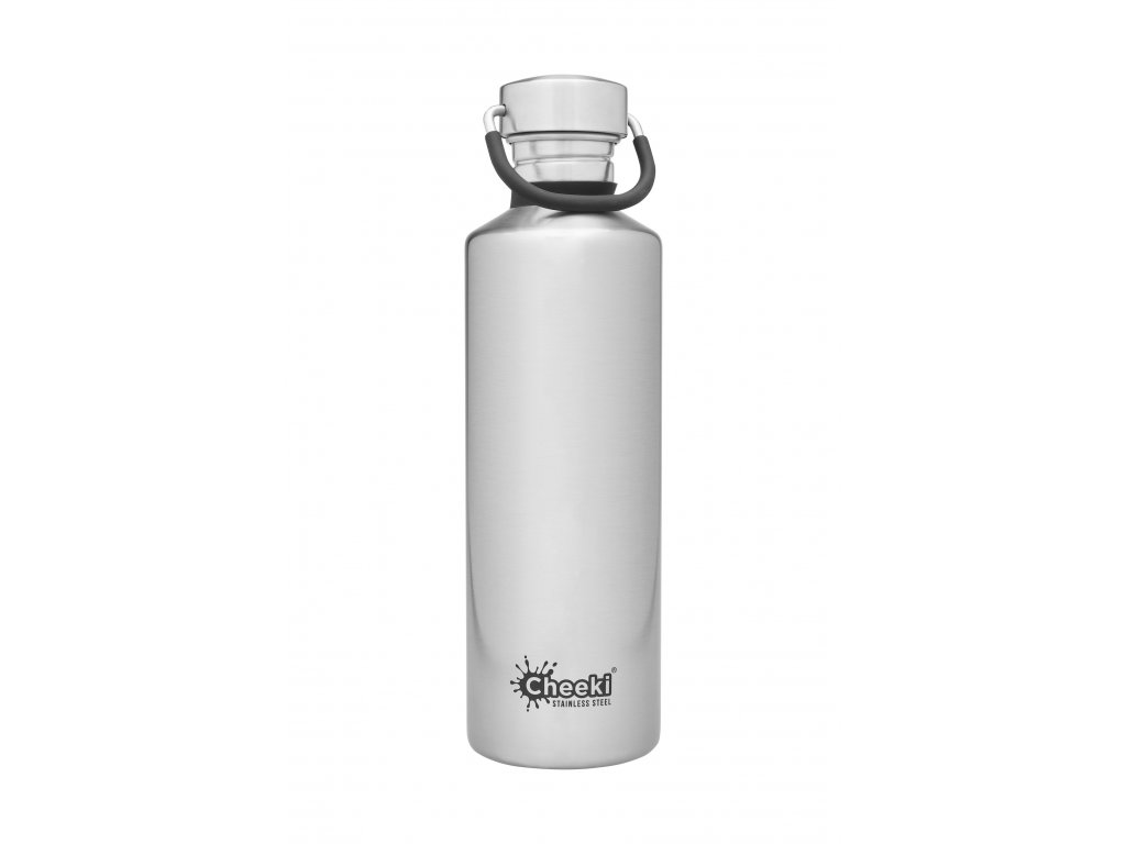 750ml Classic Single Wall Bottle-Silver  Silver