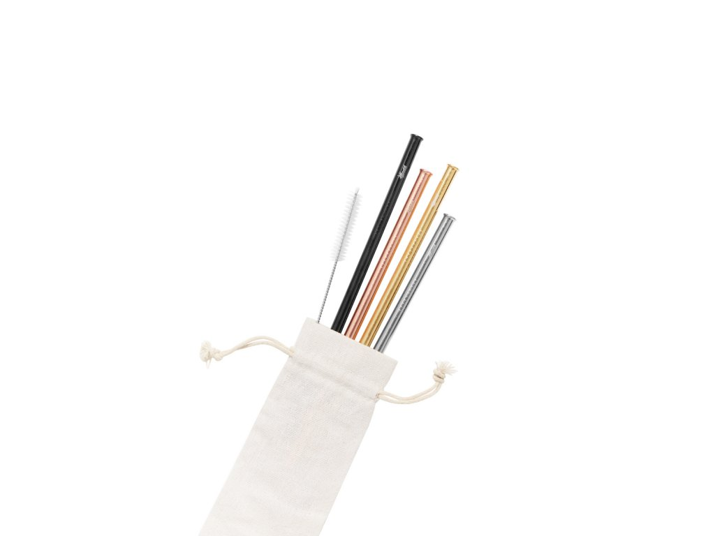 Straight Straw 4 Pack - Mixed Color  Mixed Color
