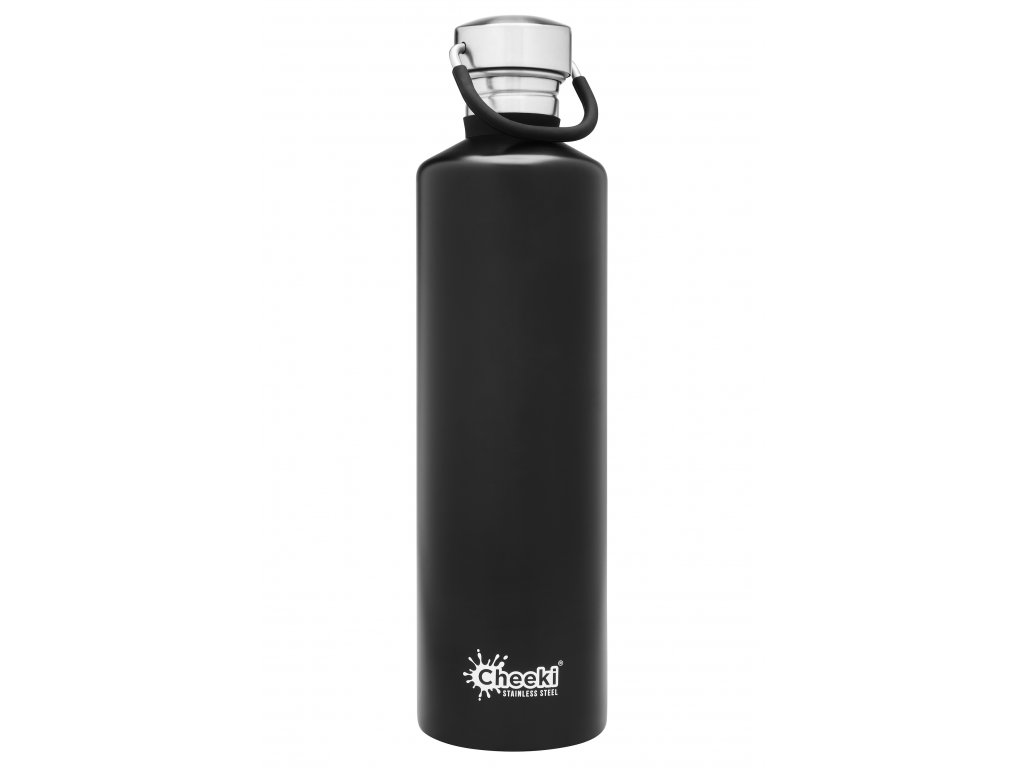 1.0L Classic Single Wall Bottle- Matte Black  Matte Black