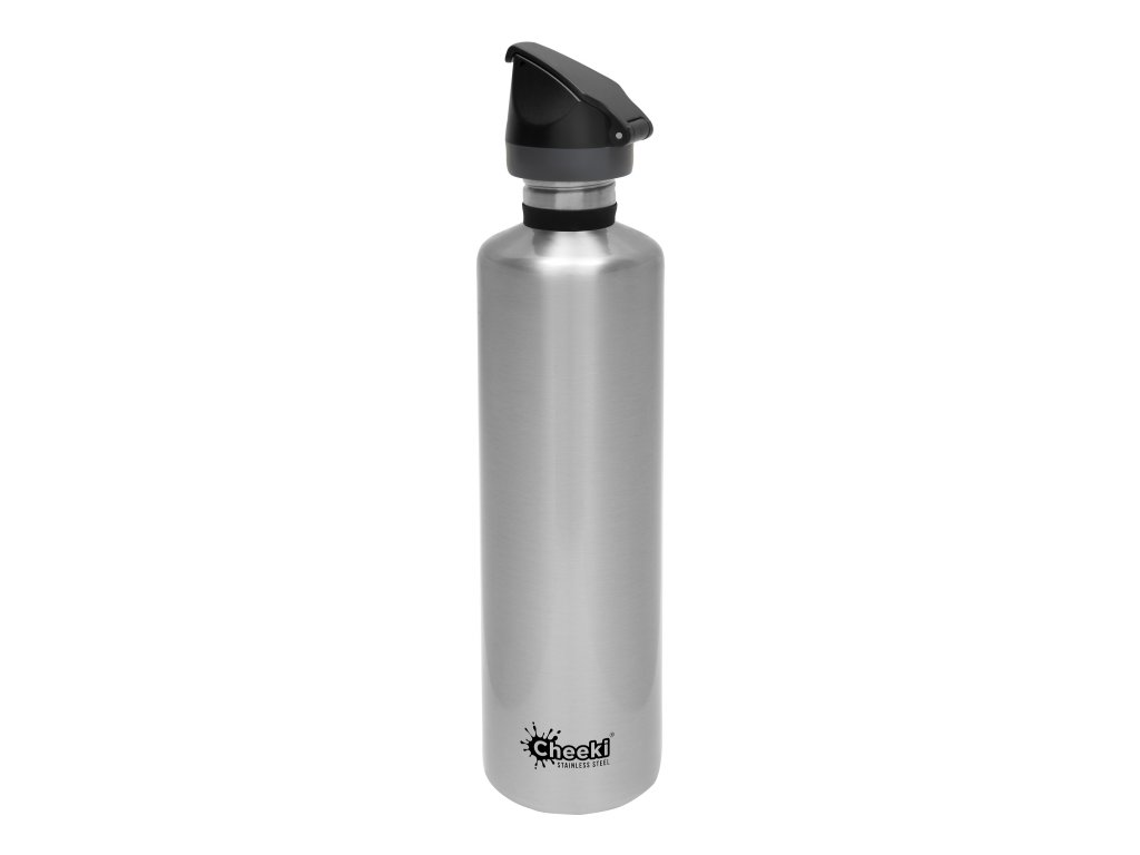 1.0L Active Single Wall Bottle - Silver  Silver