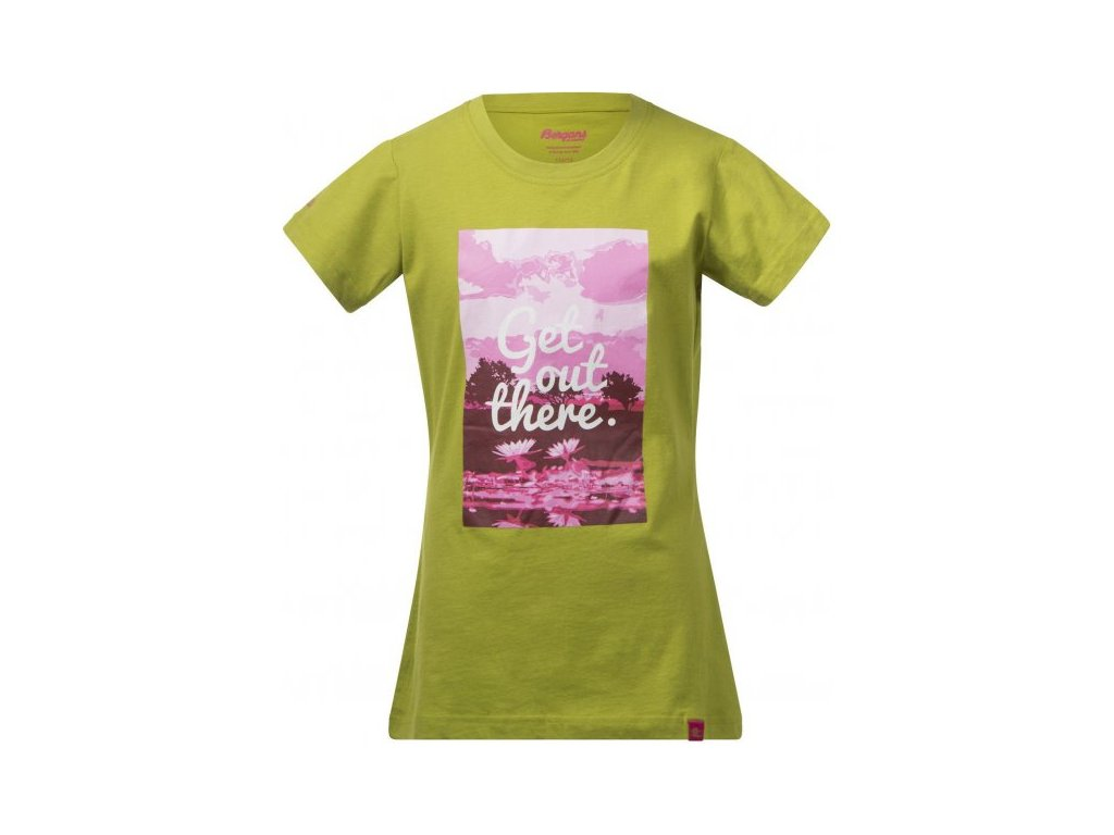 FLOWER YOUTH GIRL TEE  LIME/HOT PINK