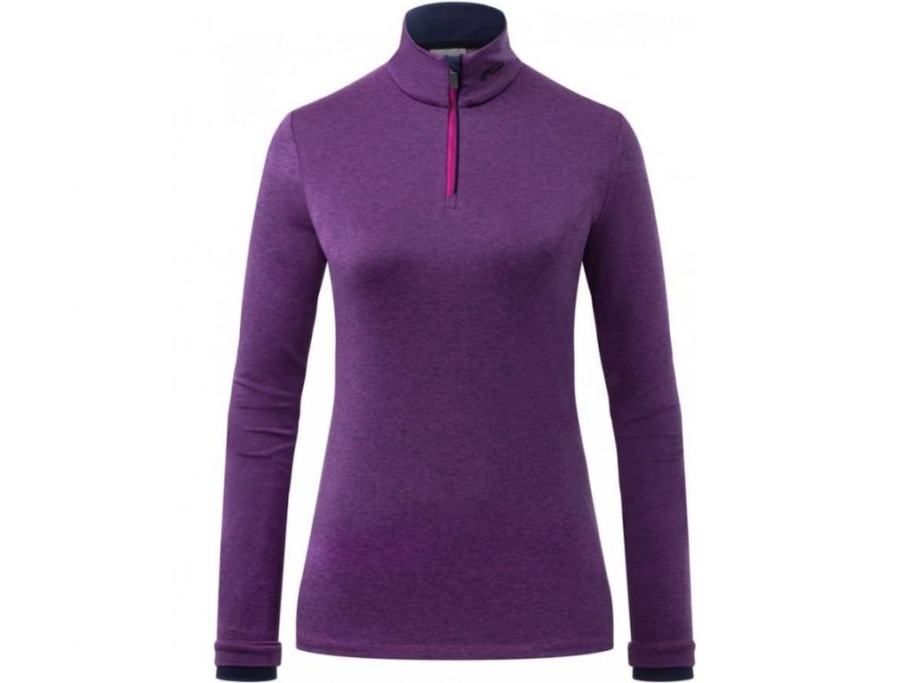 FEEL HALF ZIP  FRUITY PINK MEL