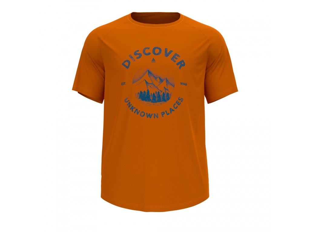 T-shirt s/s crew neck CONCORD  marmalade - discover graphic SS21
