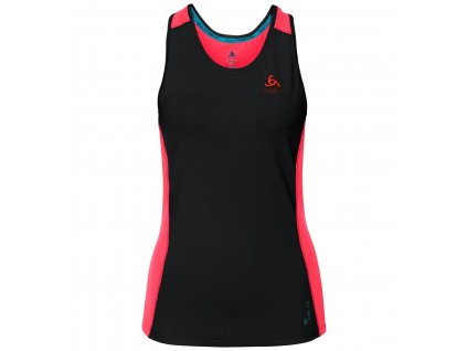 BL TOP Crew neck Singlet Ceramicool pro  black - fiery coral