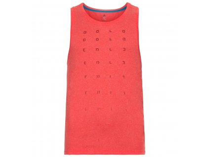 BL TOP V-neck Tank AION  fiery red melange - placed print FW18