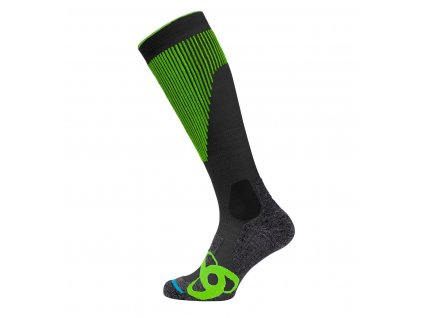 Socks extra long SKI MUSCLE FORCE WARM  odlo graphite grey - safety yellow