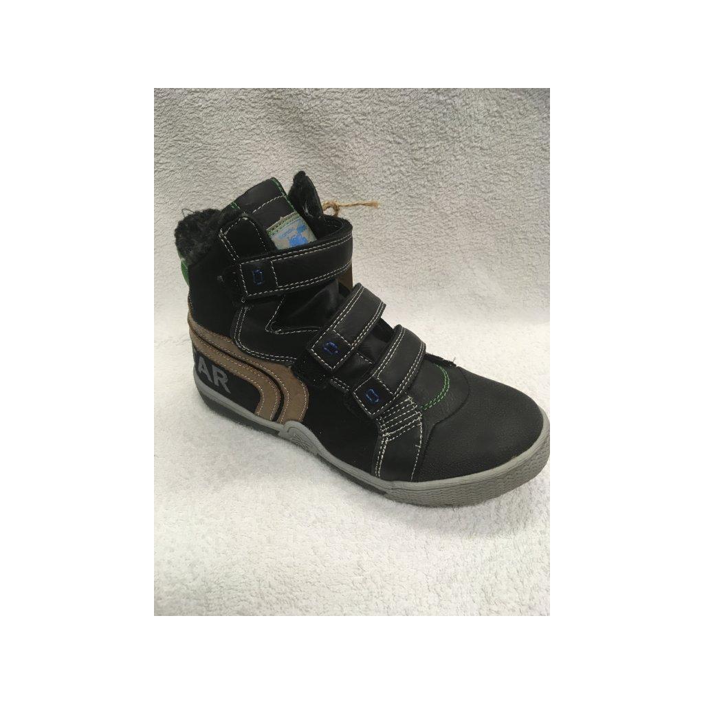 Kotníčková zimní obuv dětská, černá