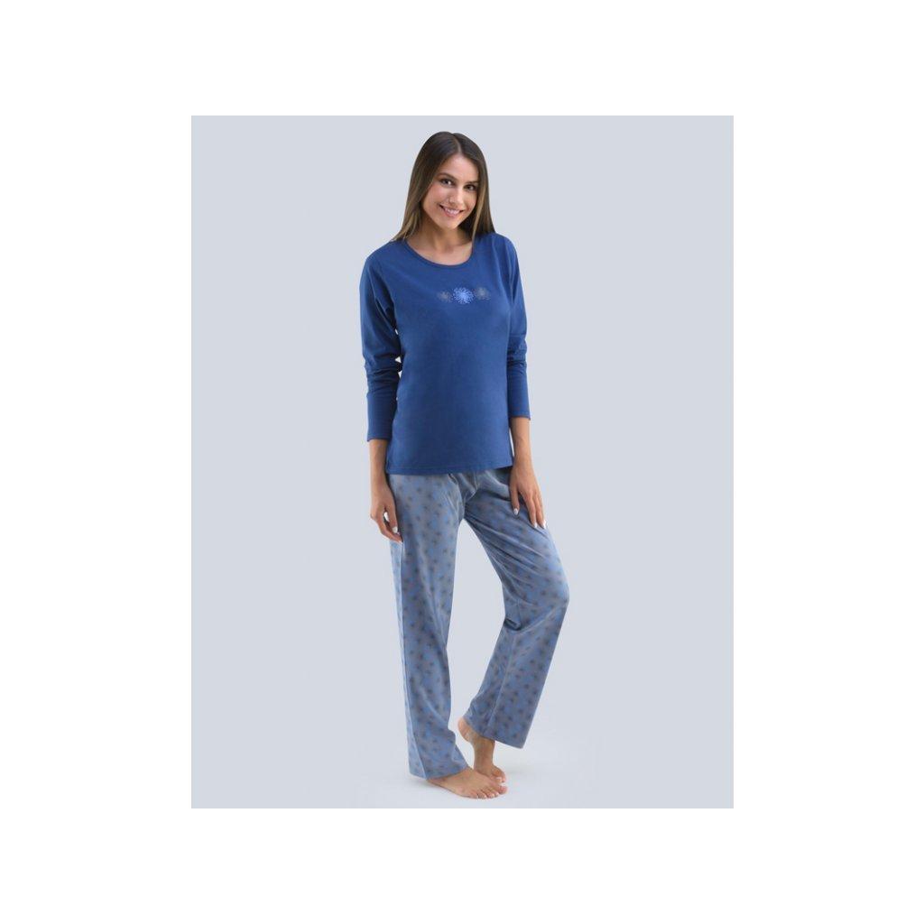 Dámské pyžamo GINO 19111,modrá