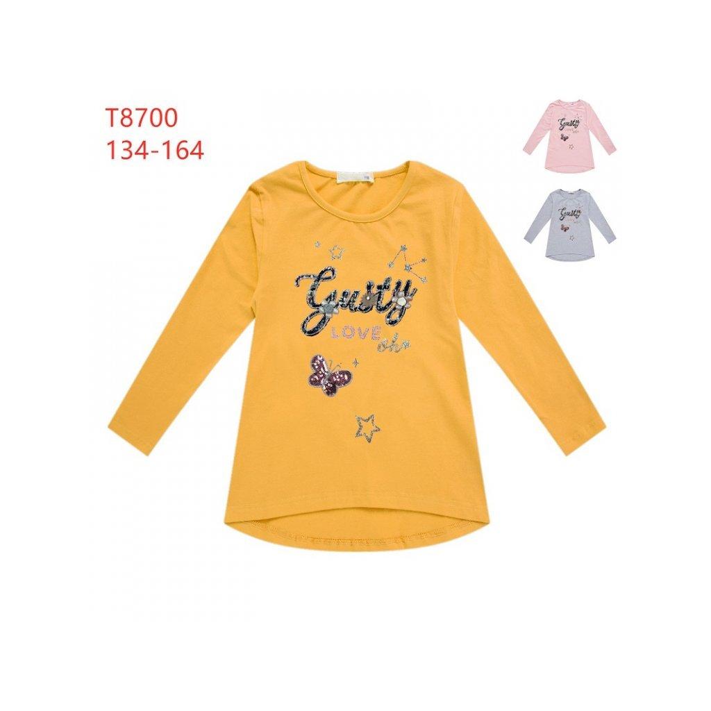 Dívčí tričko šedé Kugo T8700