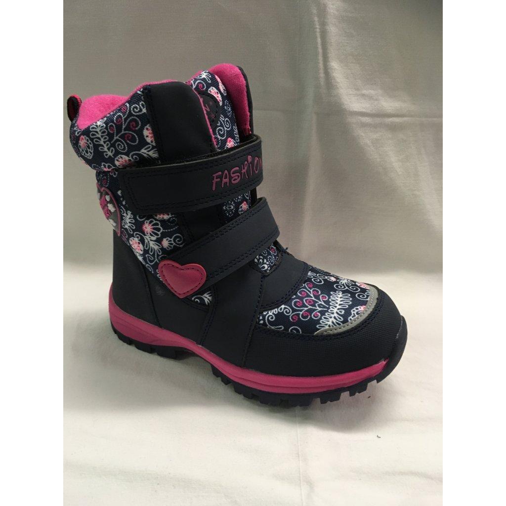 Dívčí zimní obuv-modrá