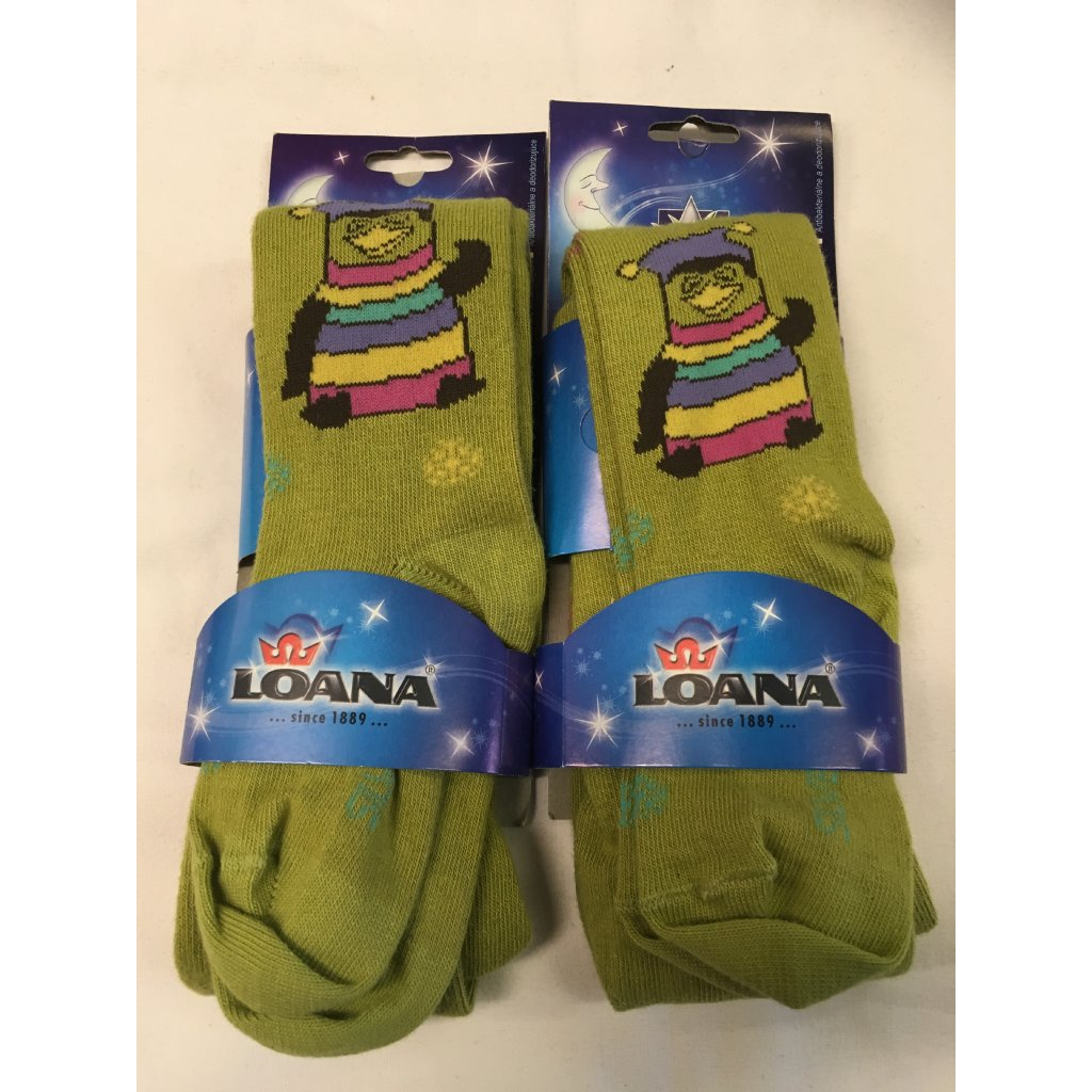 Chlapecké  punčocháče LOANA- zelená