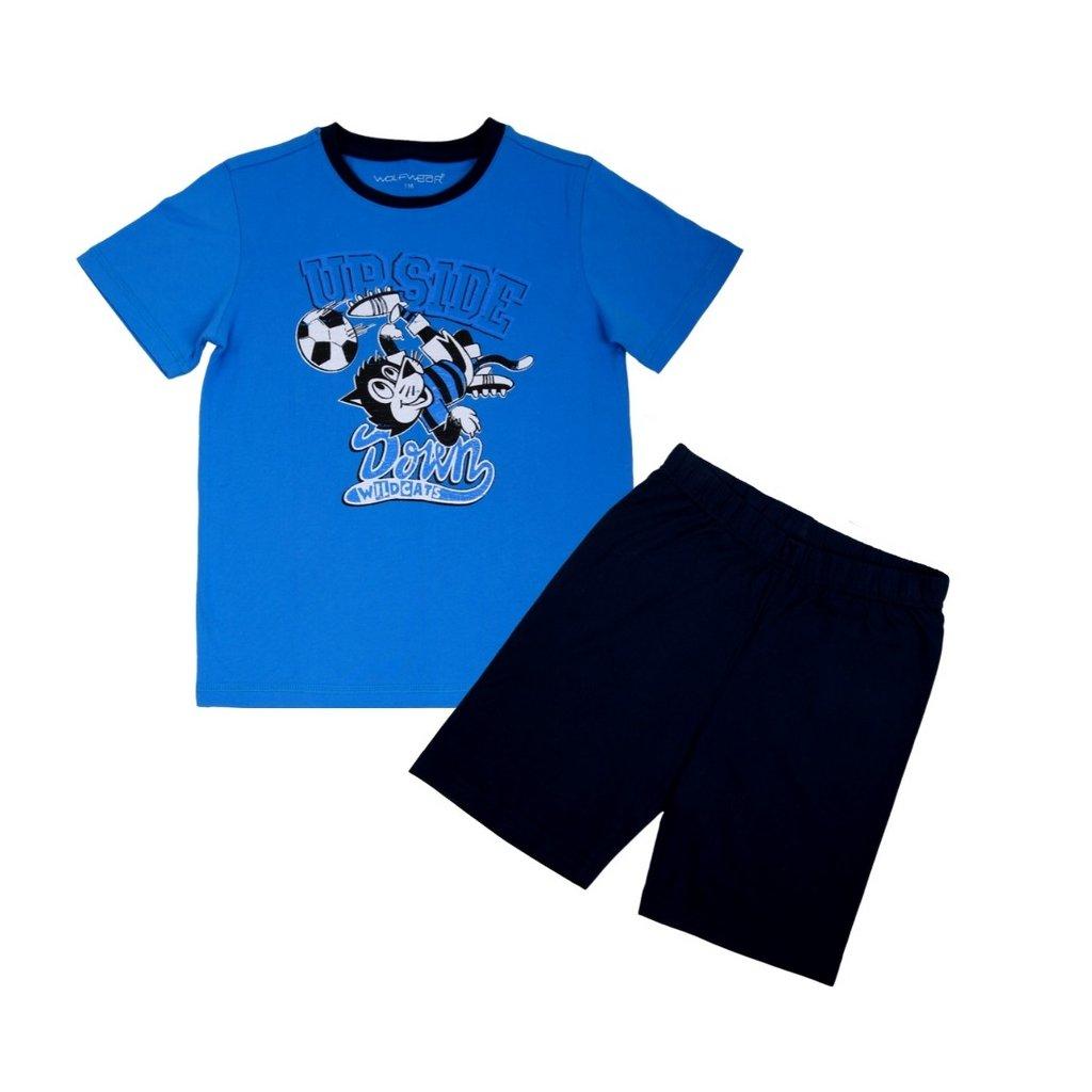 vyr 7358 chlapecke letni pyzamo S2067 modre