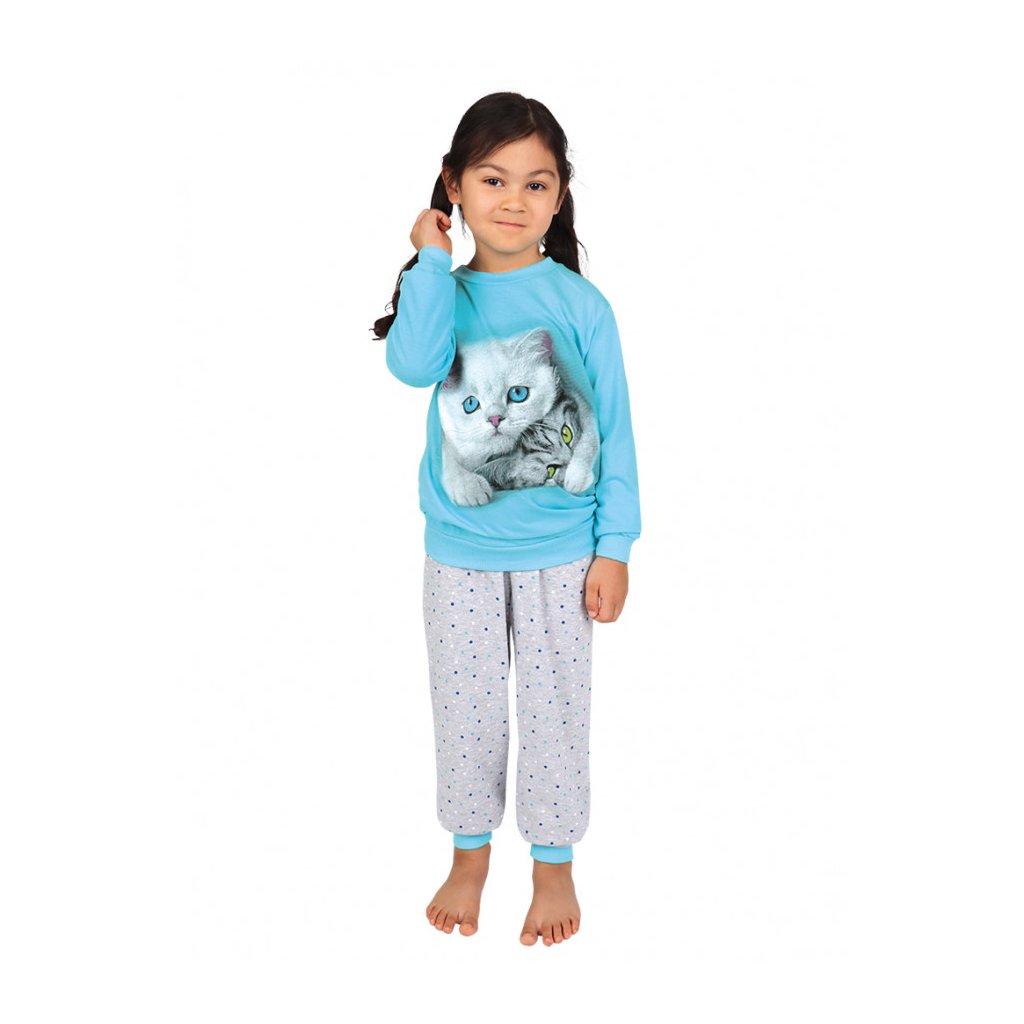 Dětské dlouhé pyžamo MAZEL tyrkysové