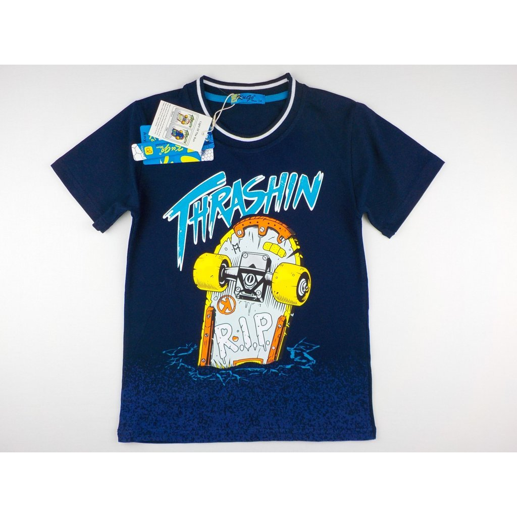 1680 7 chlapecke triko kugo k9803 tm modre velikost 164