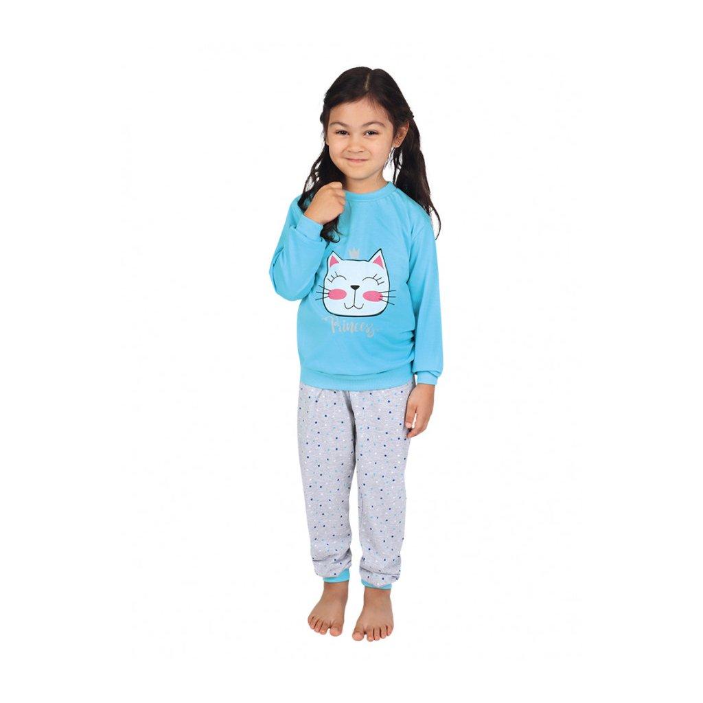 Dětské dlouhé pyžamo PRINCEZNA-modrá