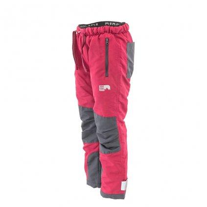 Kalhoty sportovní outdoorové, podšité fleezovou podšívkou, Pidilidi, PD1121-04, vínová