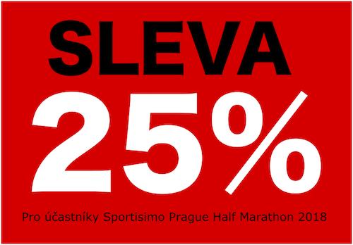 SLEVA 25% pro účastníky Sportisimo Prague Half Marathon 2018