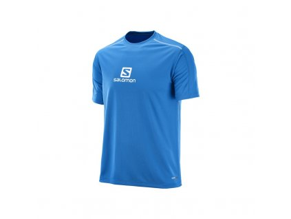 salomon stroll logo ss tee m prince blue 392805 panske triko kratky rukav