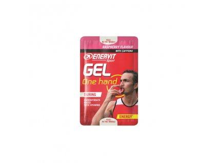 ENERVIT Gel One Hand energeticky gel s kofeinem malina