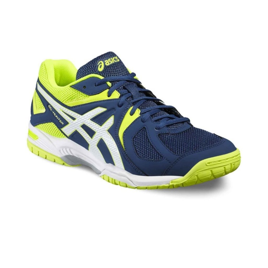 Bedmintonová obuv ASICS GEL-HUNTER 3 POSEIDON WHITE SAFETY YELLOW