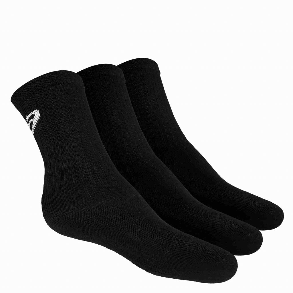ASICS CREW SOCK BLACK 3 pack